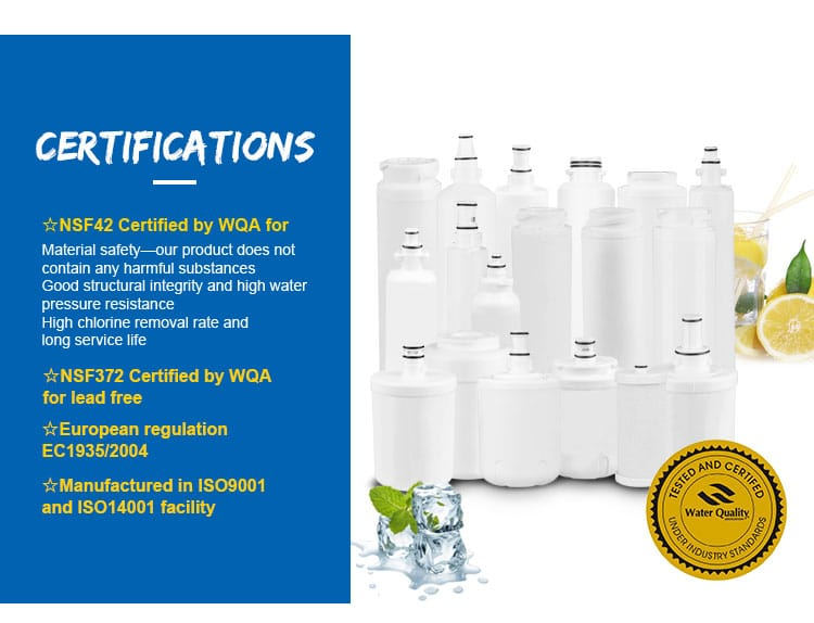 Water filter home refrigerator