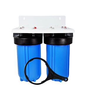 2 Stage 4.5X10 Inch Big Blue Water Filter Housing