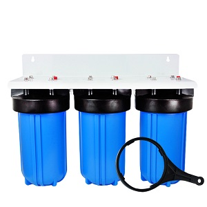 3-Stage 4.5 X10 Inch Big Blue Water Filter Housing