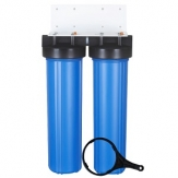 4.5X20 Inch 2-Stage Big Blue Whole House Water Filter Housing