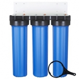 4.5X20 Inch 3-Stage Big Blue Whole House Water Filter Housing