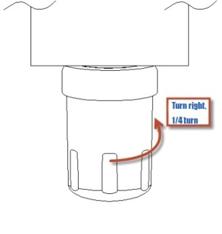 GE Refrigerator Water Filter MWF MWFP Installation Instruction