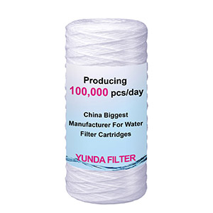 10X4.5 Inch Big Blue String Wound Sediment Water Filter Cartridge
