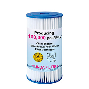 10x4.5 Inch Big Blue PP Pleated Sediment Water Filter Cartridge With Low Price