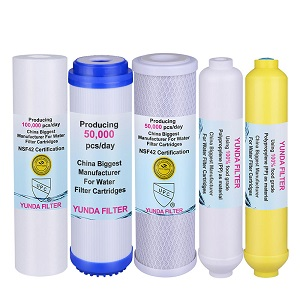 Pre-Filter, Post Carbon Inline and Mineral Water Filter Cartridge