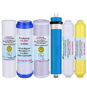 Pre-Filter, Post Carbon Inline, Membrane, and Mineral Water Filter Cartridge