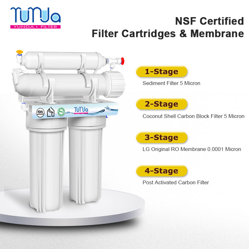 4-Stage RO Water Filtration, Reverse Osmosis System