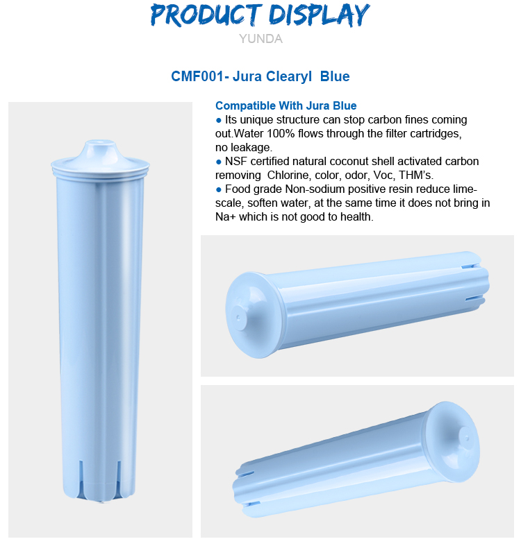 Replacement Filter for Jura Clearyl Blue, Coffee Machine Water Filters