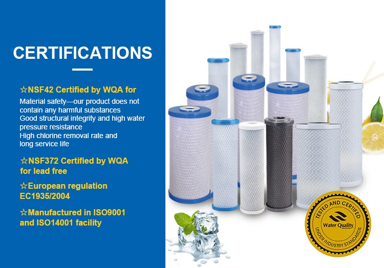 10 Inch Activated Carbon Block Water Filter For RO System