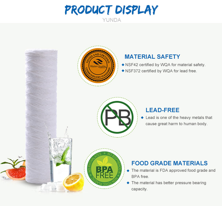 pp String Wound Filter Cartridge, 10 Inch Water Filter
