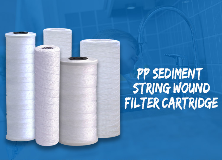 String Wound Water Filter, 20 Inch PP Filter Cartridge