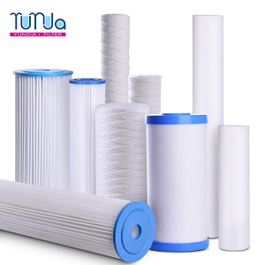 Sediment Filter Cartridge of PP, String-Wound and Pleat
