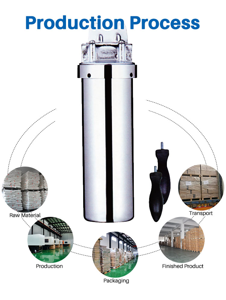 Stainless Steel Whole House Water Filter, Filtration Stainless Steel Housing