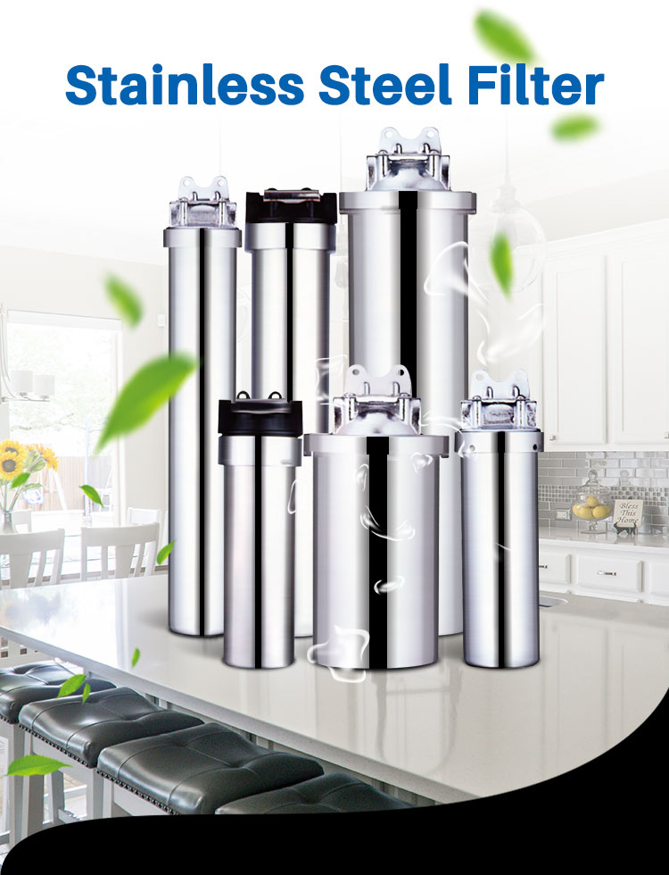 Stainless Steel Cartridge Filter Housing, Whole House Water Filter