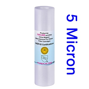 5 Micron Polypropylene(PP) Pre Sediment Filter for RO, Whole House, or More