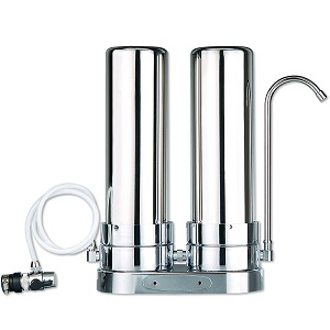 2 Stage Stainless Steel Countertop Water Filter