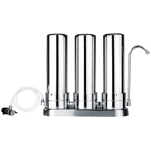 3 Stage Stainless Steel Countertop Water Filter