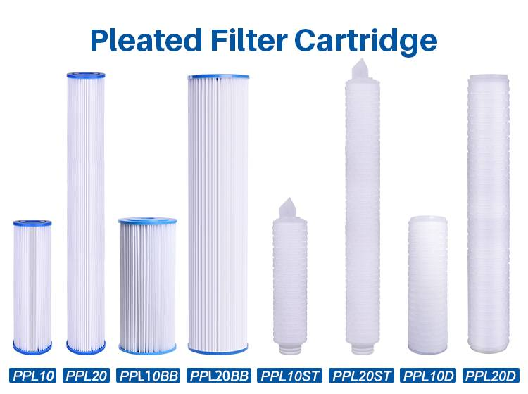 Pleated Polyester Filter Cartridge, 20x4.5 inch Pleated Polyester Filter Cartridge