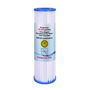 10x2.5 Inch Pre PP Pleated Sediment Well/Tap Water Filter