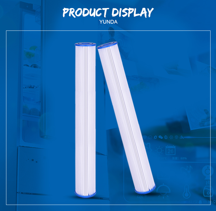 20 Pleated Water Filter Cartridges, 20 x 2.5 Pleated Water Filter Cartridges