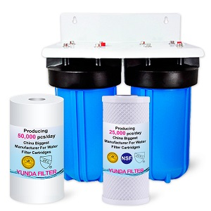 2-Stage 4.5X10 Inch Big Blue Whole House Water Filtration System