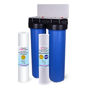 2 Stage 4.5X20 Inch Big Blue Whole House Water Filtration System