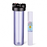 20 x 4.5 Big Blue Whole House Water Filter System Clear Body