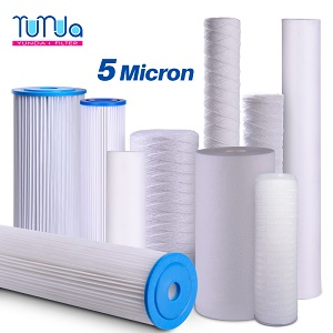5 Micron Sediment Filter Cartridge - PP Spun, String-Wound and Pleated Styles