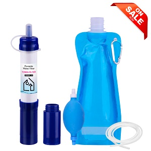 LifeStraw Portable Mini Water Filter for Hiking Camping