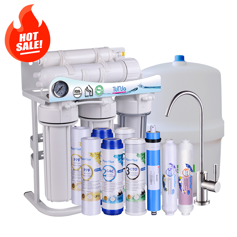 Low Price Under Sink 5 Stage Reverse Osmosis System With Pump, Faucet and Tank