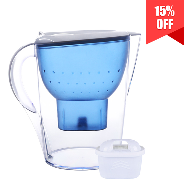 3.5L Water Filter Pitcher 10 Cup 150 Gallon, BPA Free, Restore the Natural Taste
