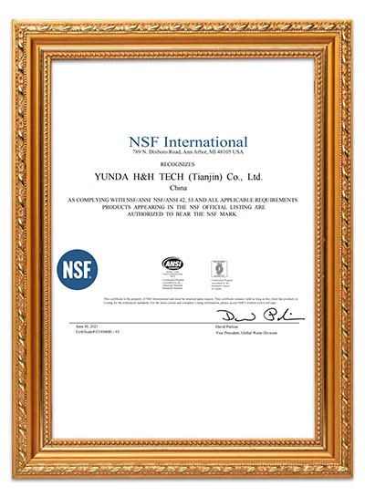 China Water Filter Supplier Water Filter Manufacturer Certificate